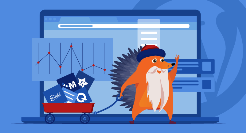 A bearded hedgehog pulls a cart of graphs
