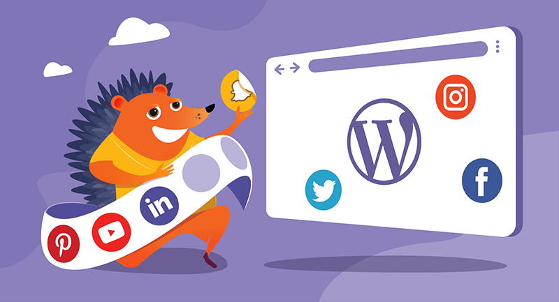 Social media icons are added to a WordPress site using widgets