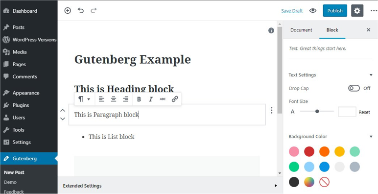 A screenshot of the first introduction of Gutenberg encouraging users to try the plugin.