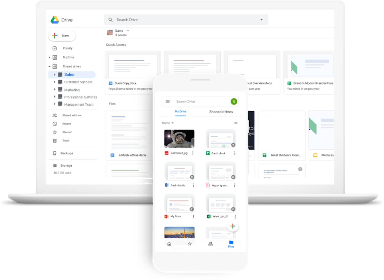 Google Workspace Screens
