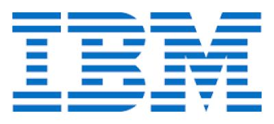An example of the blue IBM logo